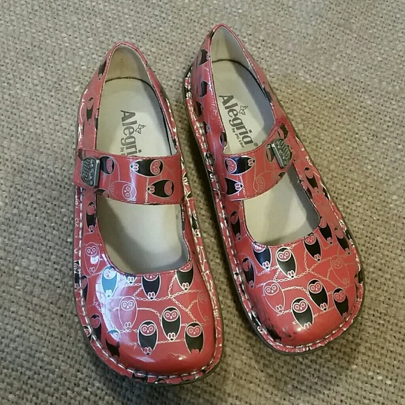 Comfort Shoes Women's Shoes Humor Alegria Leather Mary Jane Shoes Clogs Size 38